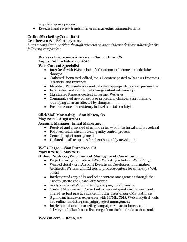 marketing resume web