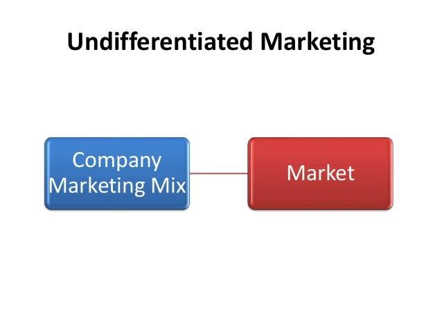 undifferentiated market