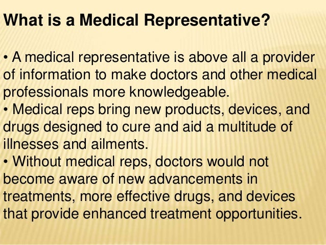 how to become a medical rep
