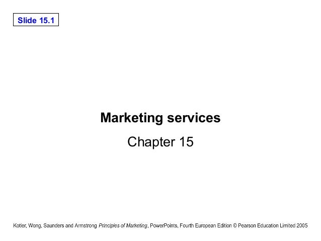 Slide 15.1 Marketing services Chapter 15