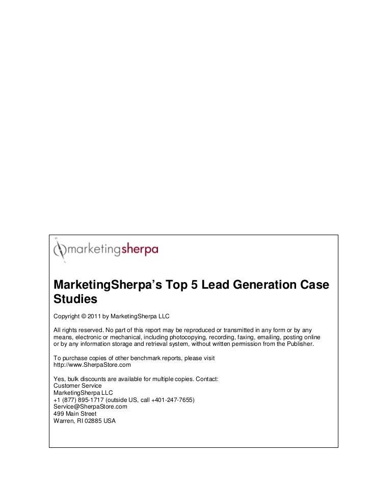 Marketingsherpa Top 5 Lead Gen Case Studies Slide 2