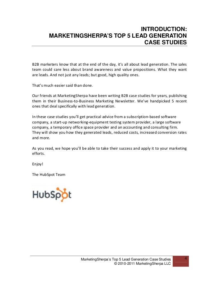 Marketingsherpa Top 5 Lead Gen Case Studies