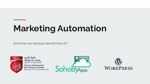 Marketing Automation And how can startups benefit from it?
