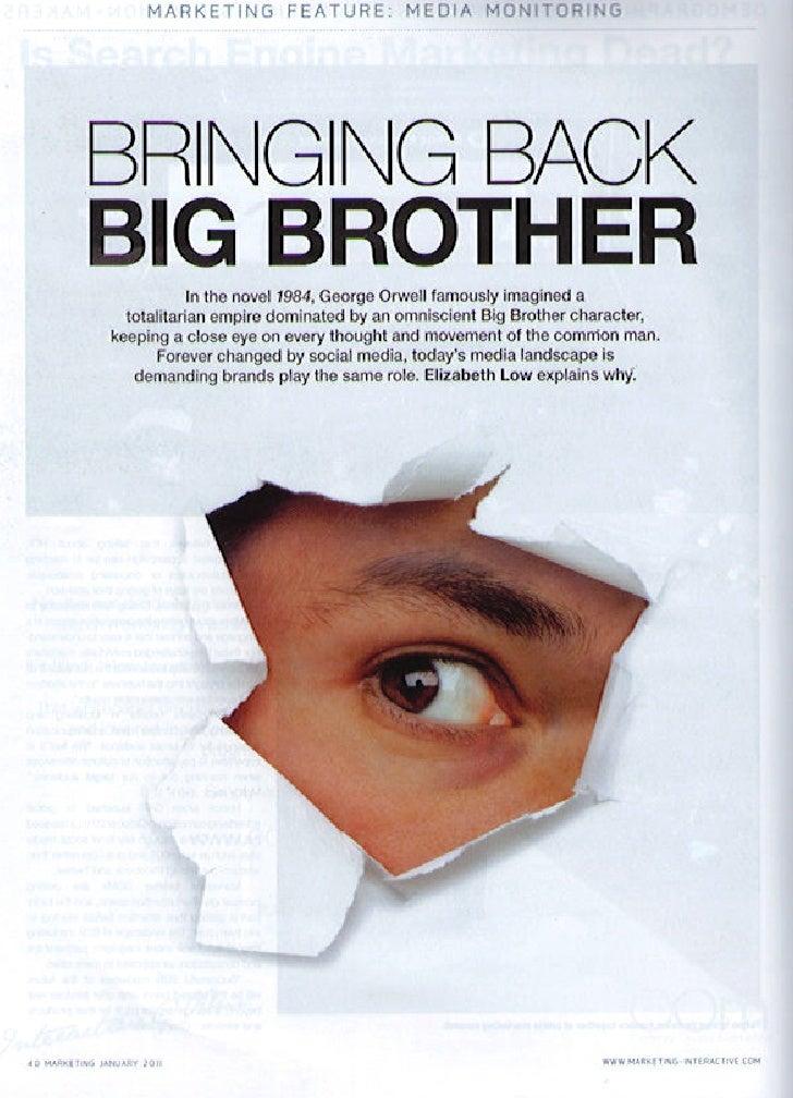 Bringing Back Big Brother