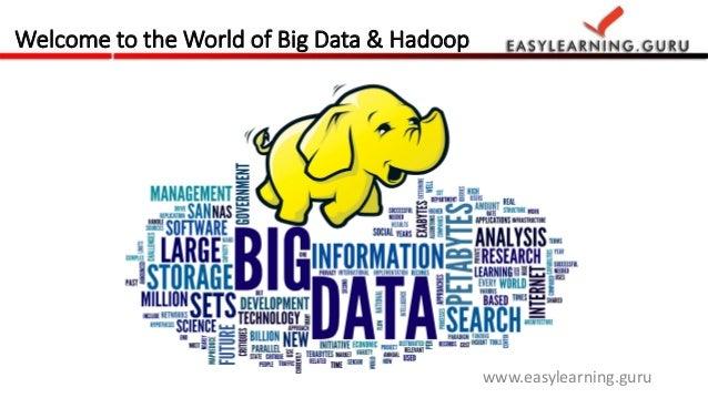 Welcome to the World of Big Data & Hadoop  www.easylearning.guru