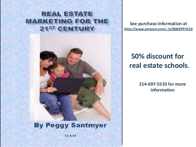 See purchase information at http://www.amazon.com/-/e/B00EPPVC26 50% discount for real estate schools. 214-697-5533 for mo...