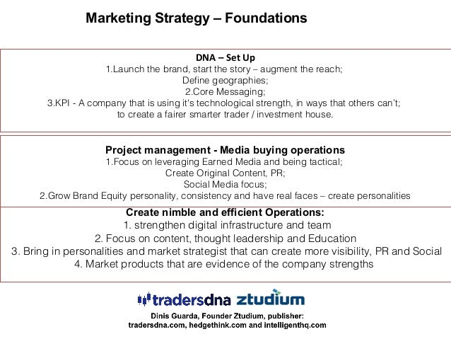 DNA – Set Up 1.Launch the brand, start the story – augment the reach; Define geographies; 2.Core Messaging; 3.KPI - A comp...