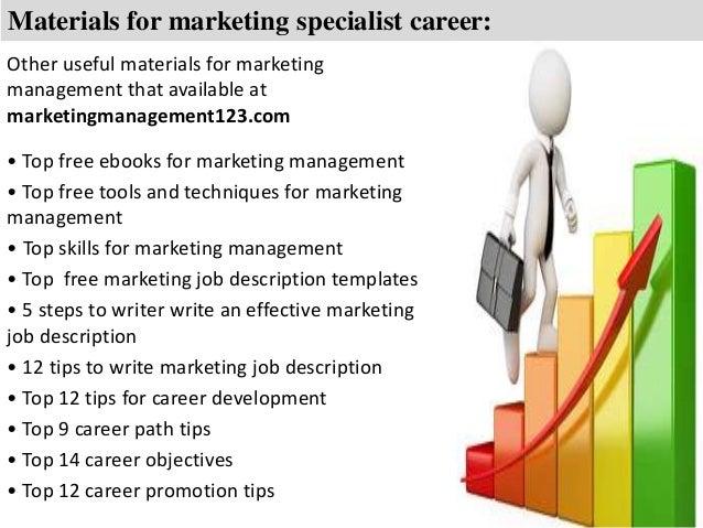 Marketing specialist job description – Marketing Specialist Job Description