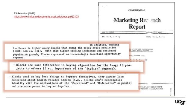 https://www.industrydocuments.ucsf.edu/docs/pzkj0103 RJ Reynolds (1982)