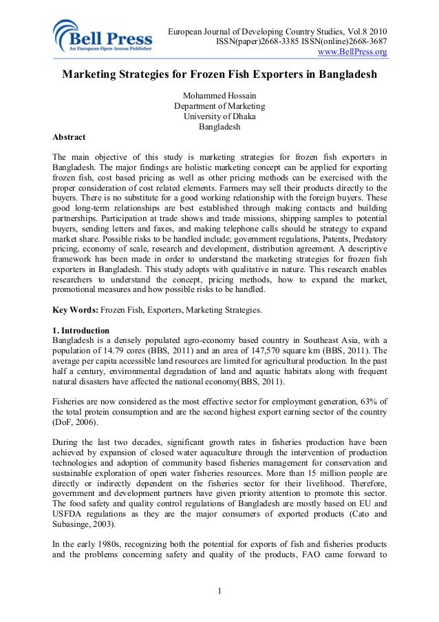 European Journal of Developing Country Studies, Vol.8 2010                                             ISSN(paper)2668-338...