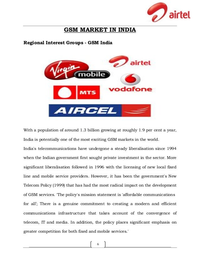 marketing strategy of airtel pdf
