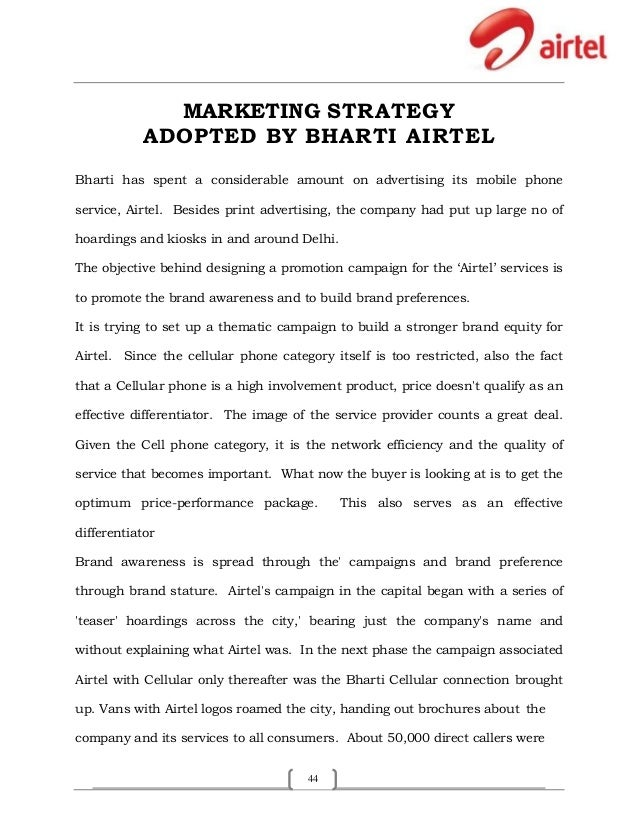 "marketing strategy of bharti airtel ""the proposed transaction is a precursor to its planned listing of the african  business in the overseas market in which bharti airtel aims to raise."