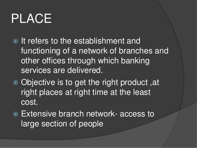 Marketing strategies of bank ppt.