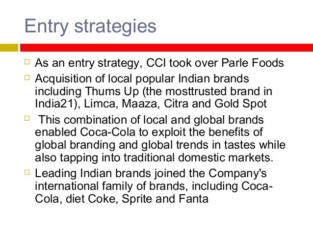 The marketing strategies of coca cola company on the domestic and global arenas