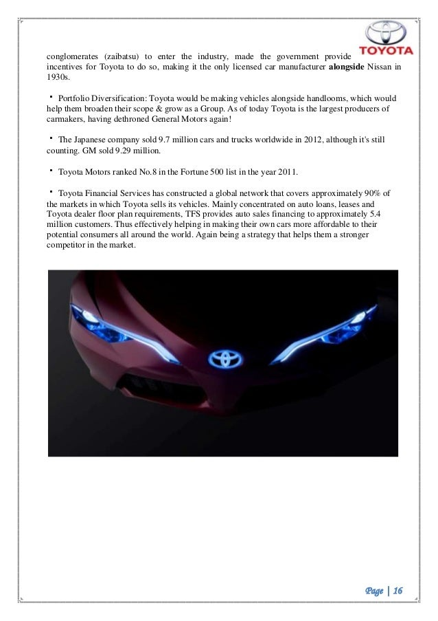 toyota marketing strategies essay 12 steering toyota's marketing if you needed proof that collaboration was key to success in business,you need look no further than the award-winning print work that's being produced by toyota.