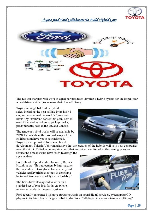 toyota business plan Toyota motor corporation's generic strategy (porter's model) and intensive growth strategies are discussed in this case study and analysis on the business.