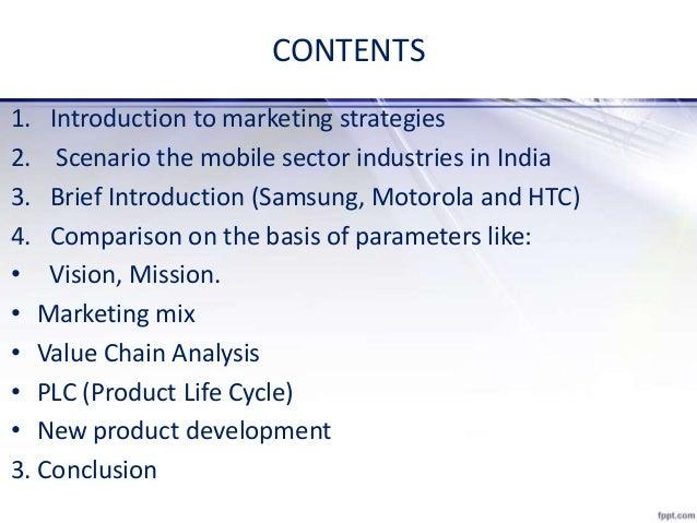 Marketing Strategies comparison between Samsung, HTC and Motorola Slide 3