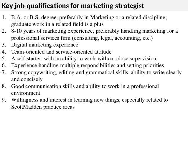 Marketing strategist job description – Digital Marketing Job Description