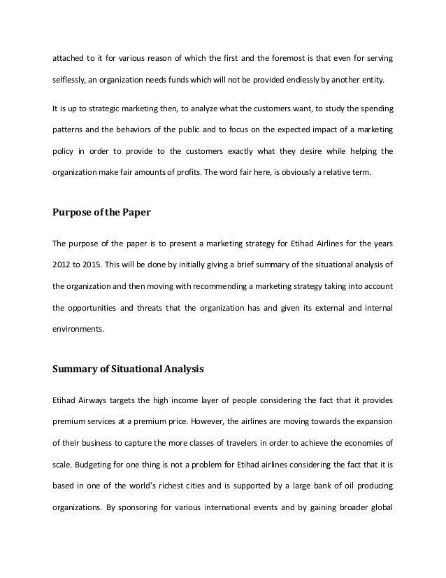 Marketing plan thesis