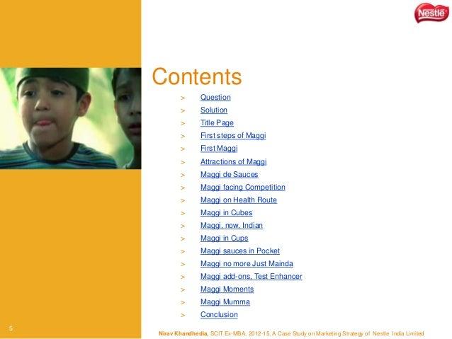 Maggi case study india