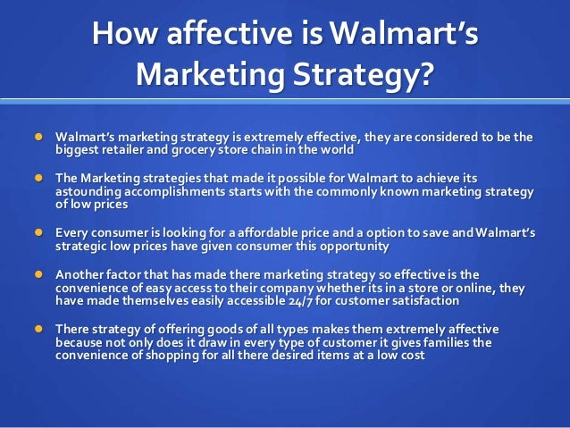 Walmart Marketing Strategy