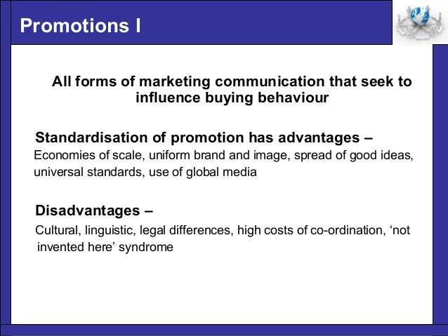 the advantages and disadvantages of the different elements of promotional mix You create a marketing strategy to gain advantages in the marketplace, but you must remain aware of the disadvantages of any given marketing strategy your marketing choices require.