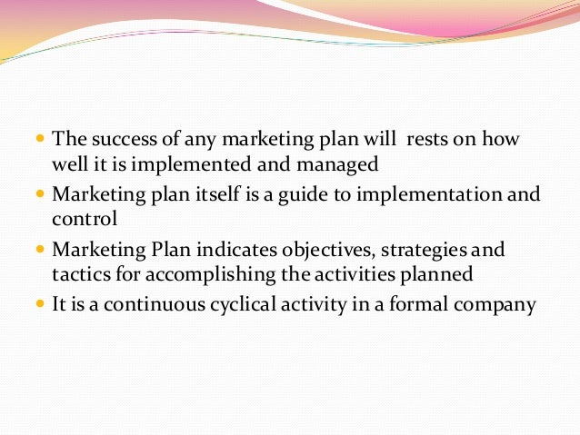 Marketing strategy implementation and control – Strategy Implementation Plan Template