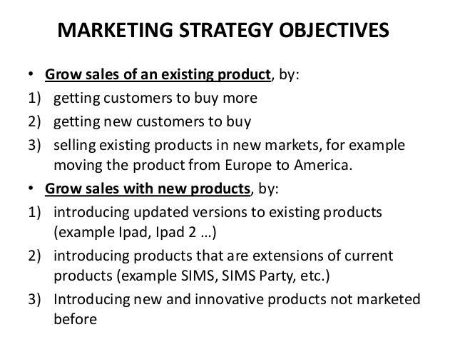 Marketing strategy & marketing budget
