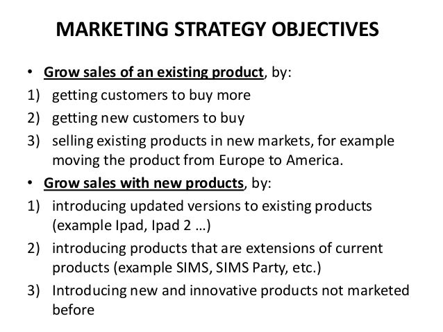 Marketing Strategy  Marketing Budget