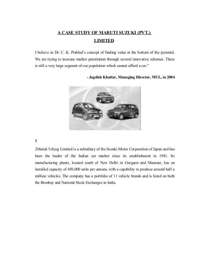 Maruti suzuki marketing strategy essays