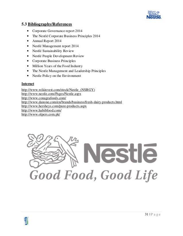nestle leadership principles
