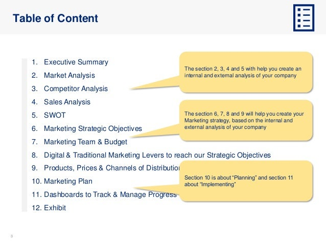 33 Table of Content 1. Executive Summary 2. Market Analysis 3. Competitor Analysis 4. Sales Analysis 5. SWOT 6. Marketing ...