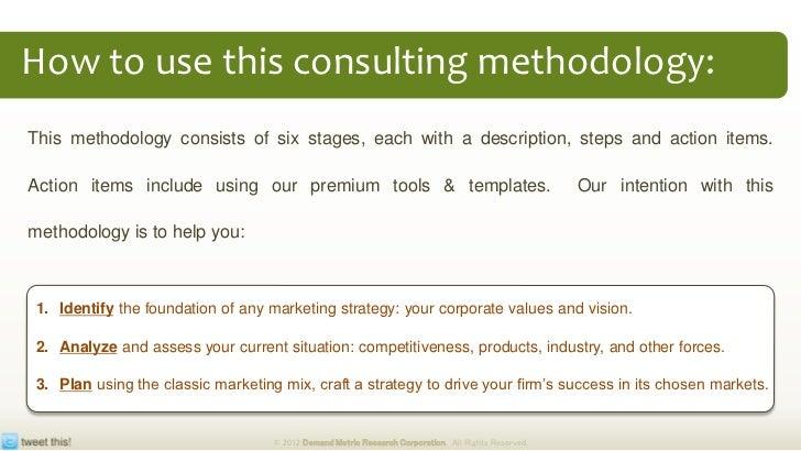 marketing strategy plan methodology tool kit
