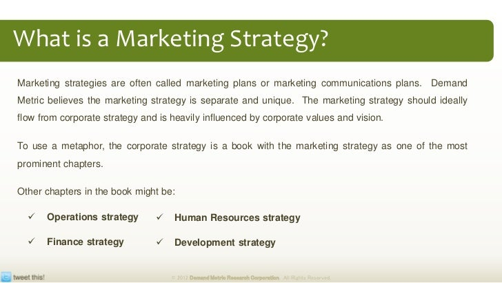 Marketing Strategy Plan Methodology & Tool-Kit