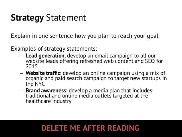Marketing Policy & Strategy