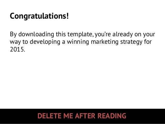2015 Marketing Strategy & Planning Template Slide 2