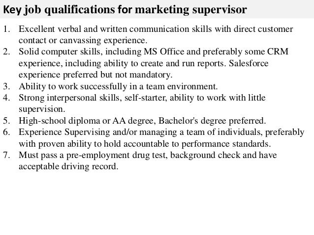 ... 3. Key Job Qualifications ...  Job Qualification Sample