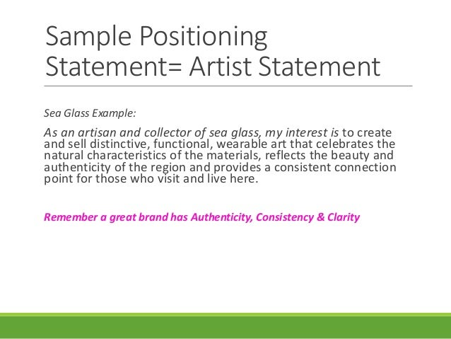 Artist Statement Examples Samples