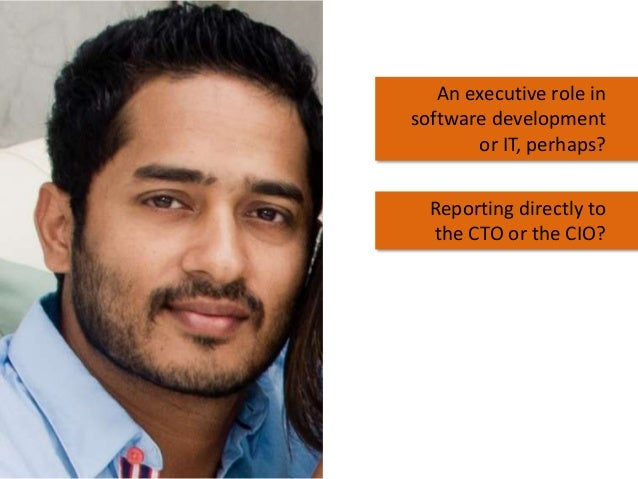 An executive role in software development or IT, perhaps? Reporting directly to the CTO or the CIO?