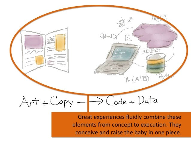 Great experiences fluidly combine these elements from concept to execution. They conceive and raise the baby in one piece.