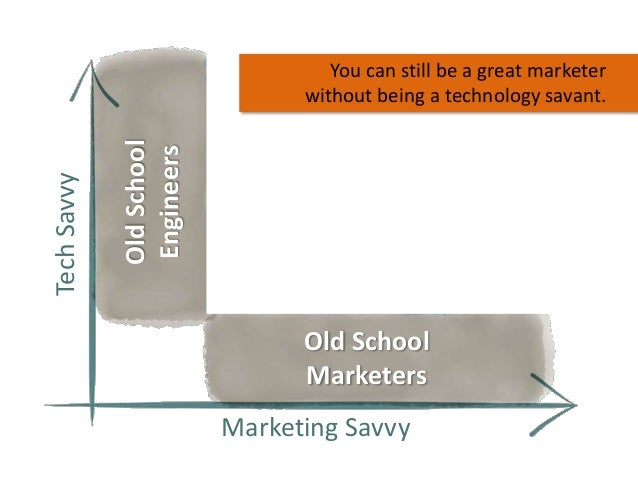 Old School Engineers  Tech Savvy  You can still be a great marketer without being a technology savant.  Old School Markete...