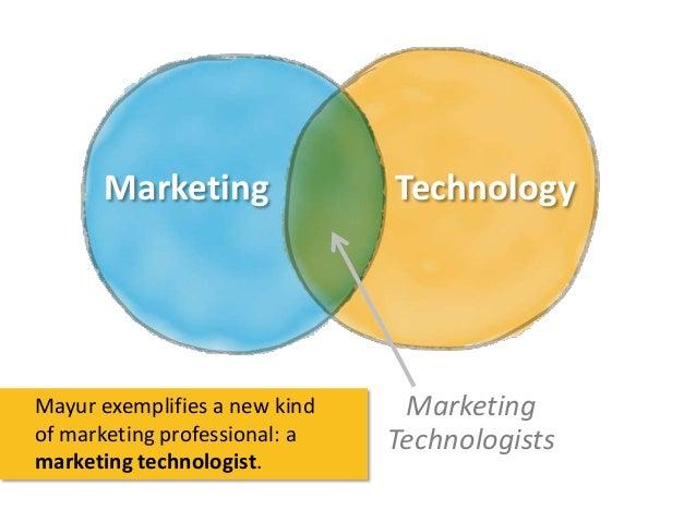 Marketing  Mayur exemplifies a new kind of marketing professional: a marketing technologist.  Technology  Marketing Techno...