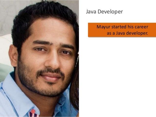 Java Developer Mayur started his career as a Java developer.