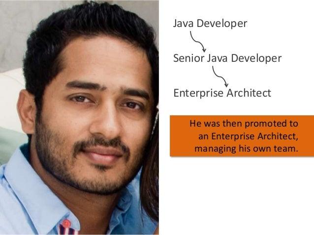 Java Developer Senior Java Developer Enterprise Architect He was then promoted to an Enterprise Architect, managing his ow...