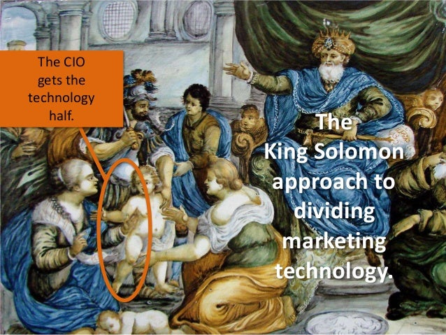 The CIO gets the technology half.  The King Solomon approach to dividing marketing technology.