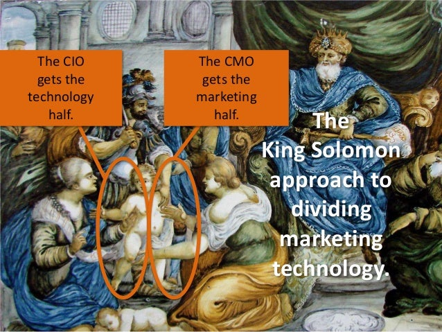 The CIO gets the technology half.  The CMO gets the marketing half.  The King Solomon approach to dividing marketing techn...