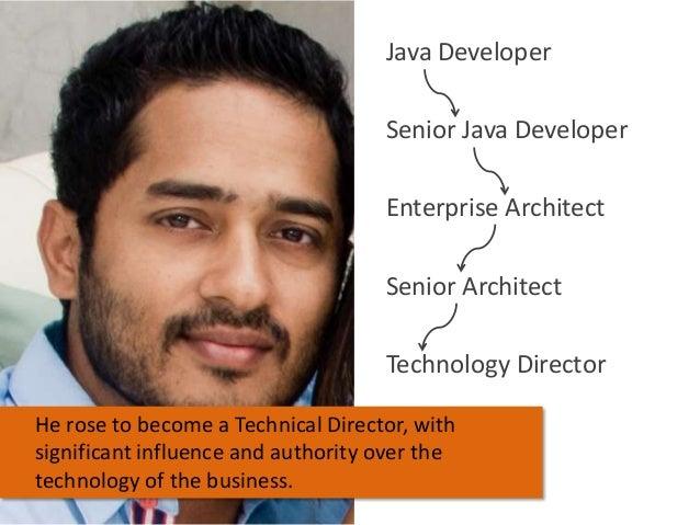 Java Developer Senior Java Developer Enterprise Architect Senior Architect Technology Director He rose to become a Technic...