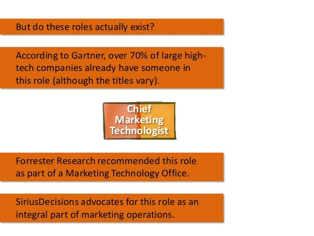 But do these roles actually exist? According to Gartner, over 70% of large hightech companies already have someone in this...