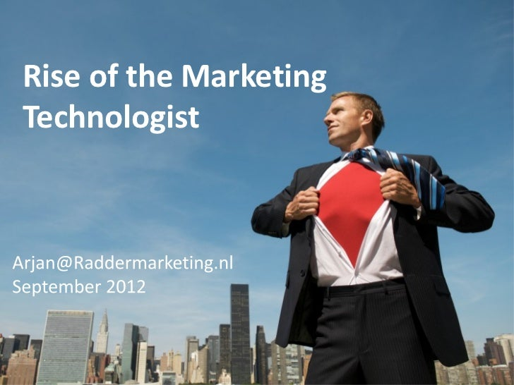 Rise of the MarketingTechnologist