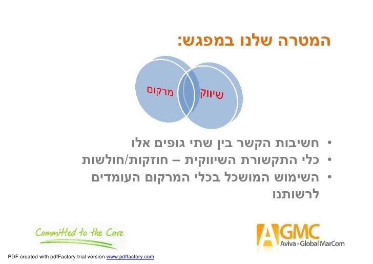 תקשורת שיווקית כחלק ממערך השיווק הבינלאומי Slide 3